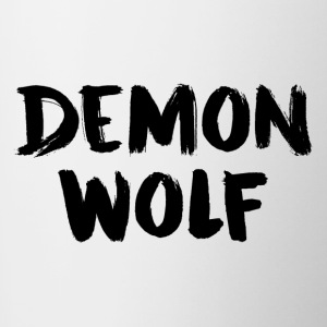 Demon Wolf Text Design Sort - Tofarvet krus