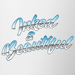 Inked and Beautiful Grafitti - Tattoo Fans - Contrasting Mug