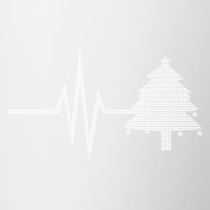 My heart beats for Christmas - Holidays tree - Contrasting Mug