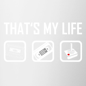 This is my life - 90s nineties retro vintage - Contrasting Mug