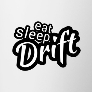 Eat sleep Drift black white - Contrasting Mug