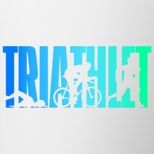 Triathlète - couleur - Triathlon - Tasse bicolore