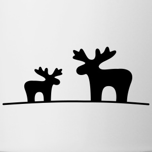Moose couple - Contrasting Mug