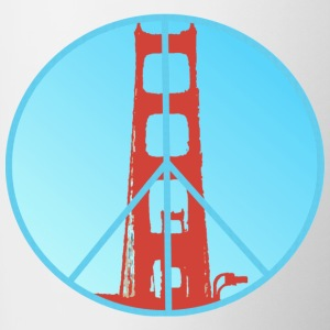 Golden Gate Peace - Contrasting Mug