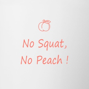 No squatting, no peach coral - Contrasting Mug