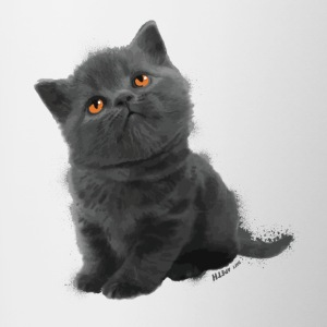 The British Shorthair - Cute Kitten - Tasse bicolore