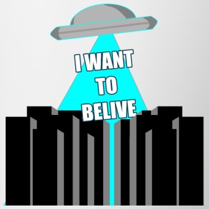 UFO: i want to belive! - Tazze bicolor