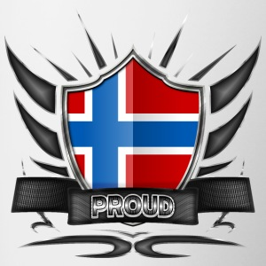 Norway flag coat of arms Proud 012 - Contrasting Mug