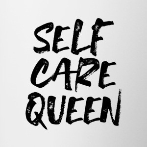 self care queen - Tasse zweifarbig