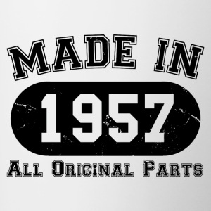 Made In 1957 All Original Parts 60th Birthday - Contrasting Mug