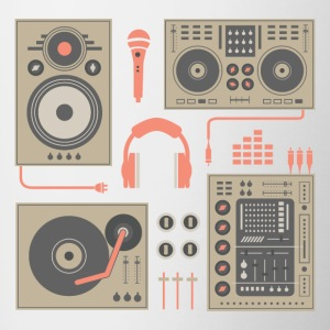 DJ Turntable set - Contrasting Mug