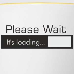 PLEASE_WAIT - Kubek dwukolorowy