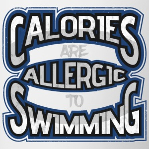 Calories are allergic to swimming 2 - Contrasting Mug