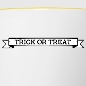 trick or threat - Tasse bicolore