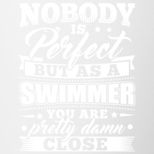 Funny Swim Swimming Shirt Nobody Perfect - Contrasting Mug