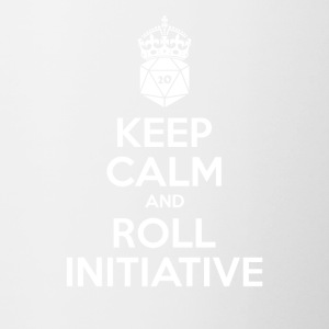 Keep calm and roll initiative - Dnd - Contrasting Mug