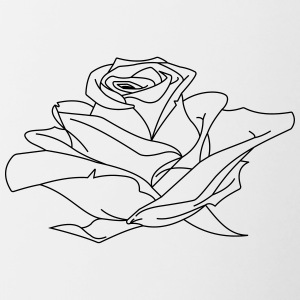 Rose illustration - Contrasting Mug