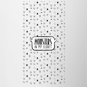 Monster In My Closet - Tasse zweifarbig