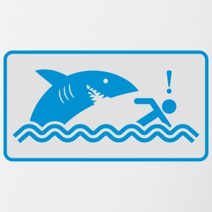 Warning: Beware Of Sharks - Contrasting Mug