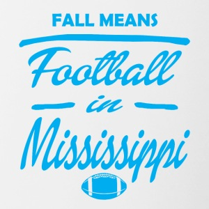 fall means mississipi - Contrasting Mug