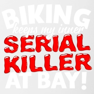 38 serial killer biking - Tasse zweifarbig