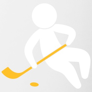 A Hockey Player With The Puck - Contrasting Mug