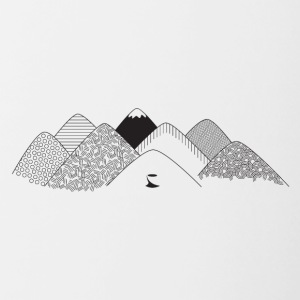 mountains - Contrasting Mug