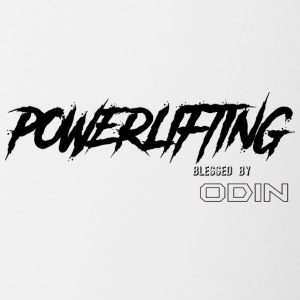 Gezegend door ODIN powerlifting - Mok tweekleurig