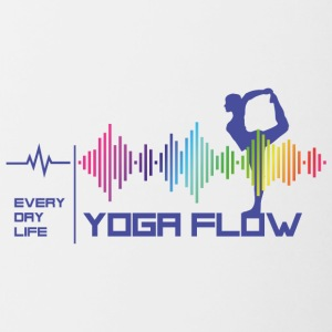 Yoga Flow - Everday Life - Good Vibes (violet) - Tasse bicolore