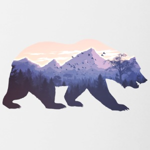 Wilderness Bear - Tasse bicolore