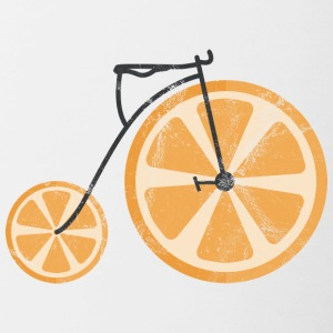 Frukt / frukt: Orange - Orange Bicycle - Tvåfärgad mugg