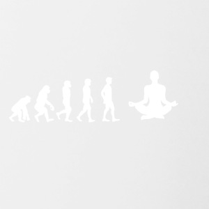 EVOLUTION yoga meditatie - Mok tweekleurig