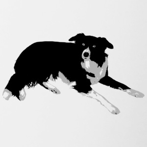 Border Collie - Tasse zweifarbig