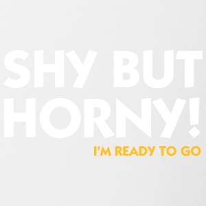 Shy But Horny. Faisons le. - Tasse bicolore