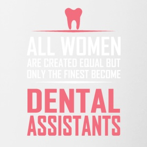 dental assistants - Tasse zweifarbig