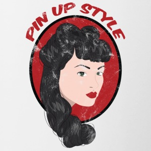 Pin-Up Girl / Rockabilly / 50'erne: Pin Up Style - Tofarvet krus