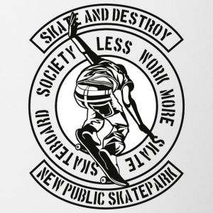 Skate And Destroy - Kubek dwukolorowy