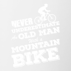 Old Man With Mountain Bike Gift Idea Birthday - Contrasting Mug