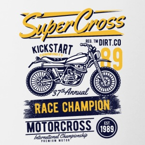 Super Cross2 - Tasse zweifarbig