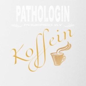 Pathologin powered by Koffein - Tasse zweifarbig