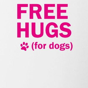 Free hugs for dogs - Contrasting Mug