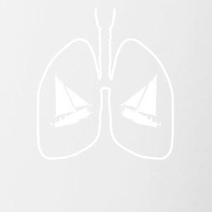Lungs sailboat sails - Contrasting Mug