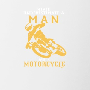 Man on motorcycle - Contrasting Mug
