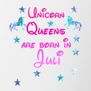 Unicorn Queens born Juli - Tasse zweifarbig