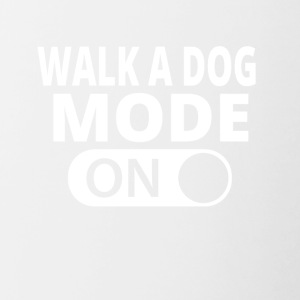 MODE ON TO WALK A DOG - Contrasting Mug