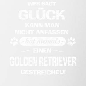 Hund Glueck GOLDEN RETRIEVER - Tasse zweifarbig