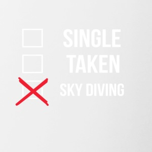 Simple Sky Diving Taken - Tasse bicolore