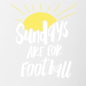 Sunday is football! Footballer football match - Contrasting Mug