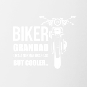 Biker granddad, like a normal granddad but cooler - Contrasting Mug