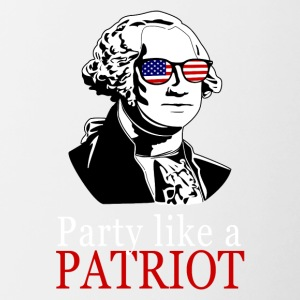 Partij als een patriot! USA shirt Patriot - Mok tweekleurig